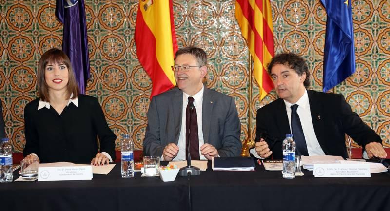 Diana Morant, Ximo Puig y Francesc Colomer