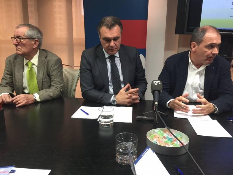 Rueda de prensa con Antonio Bernabé, Rafael Gallego y Vicente Blasco. //VIU VALÈNCIA