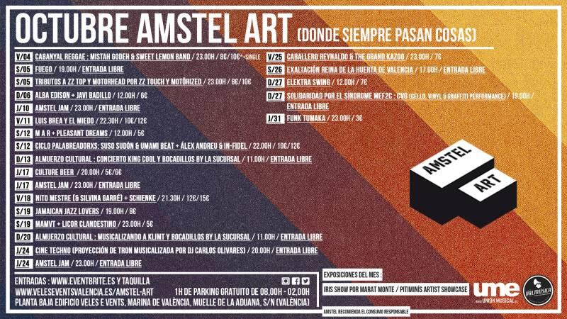 CARTEL OCTUBRE 19 AMSTEL ART