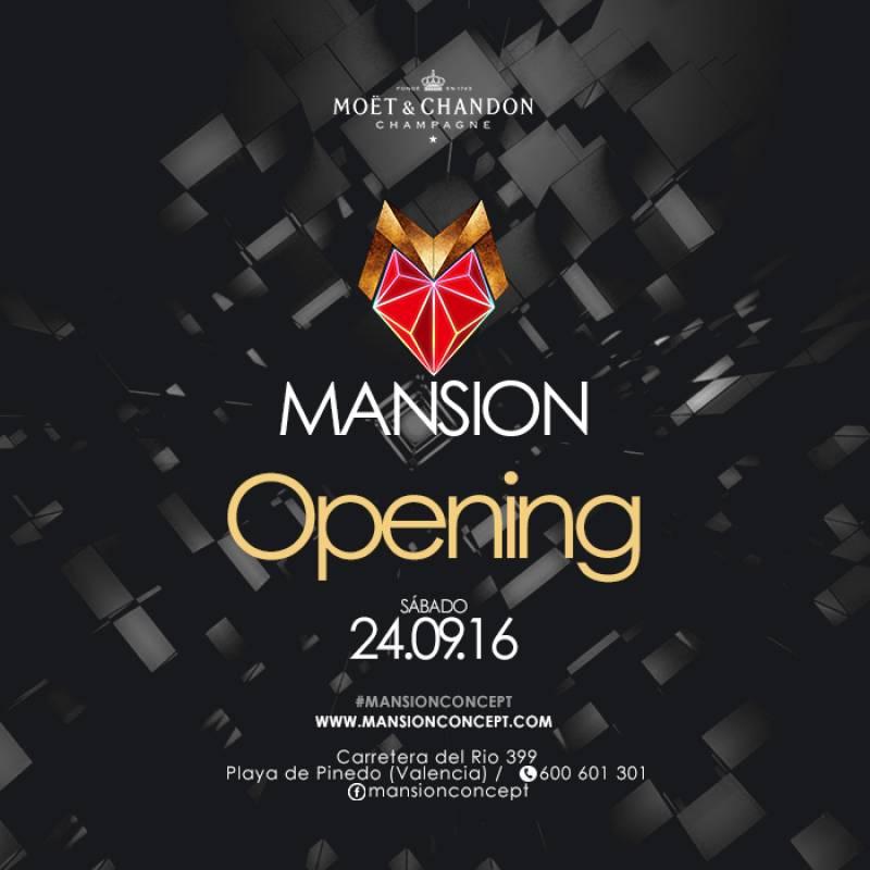 Mansion Concept, cartel de inauguración