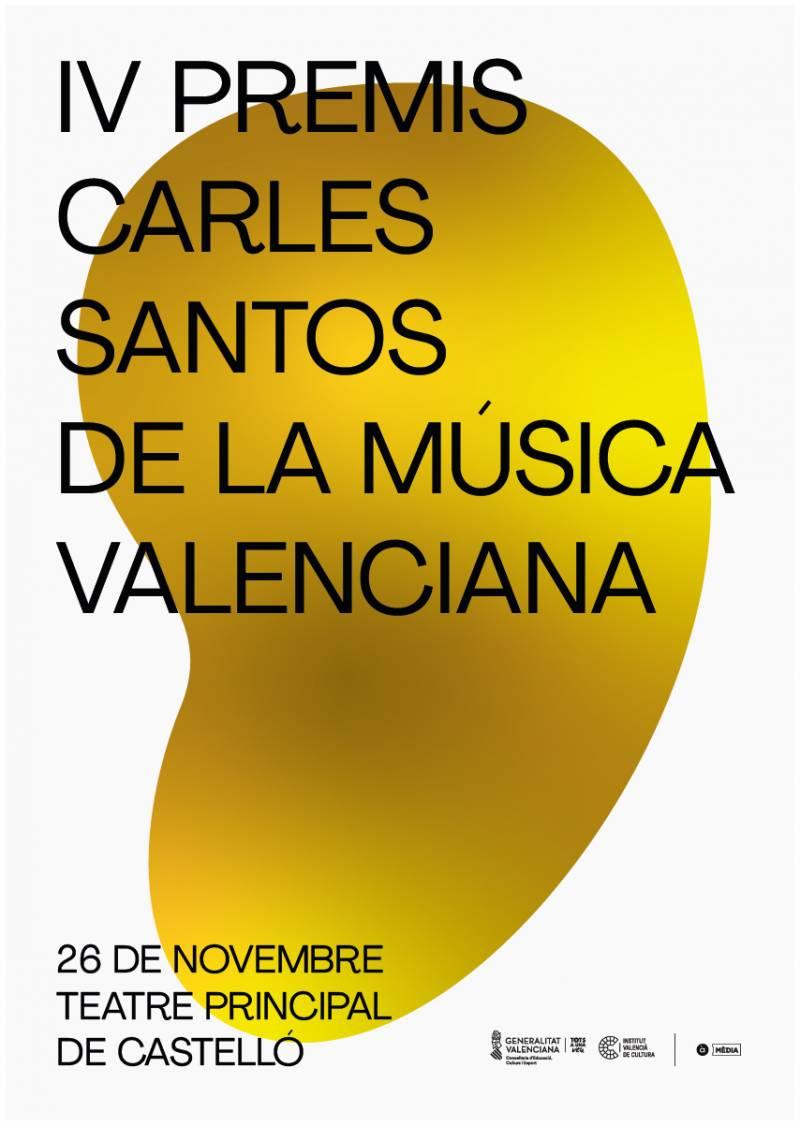 Cartell dels premis Carles Santos de la Música Valenciana. Foto: GVA
