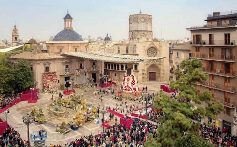 Una imagen de la Ofrenda de las Fallas de València. EPDA