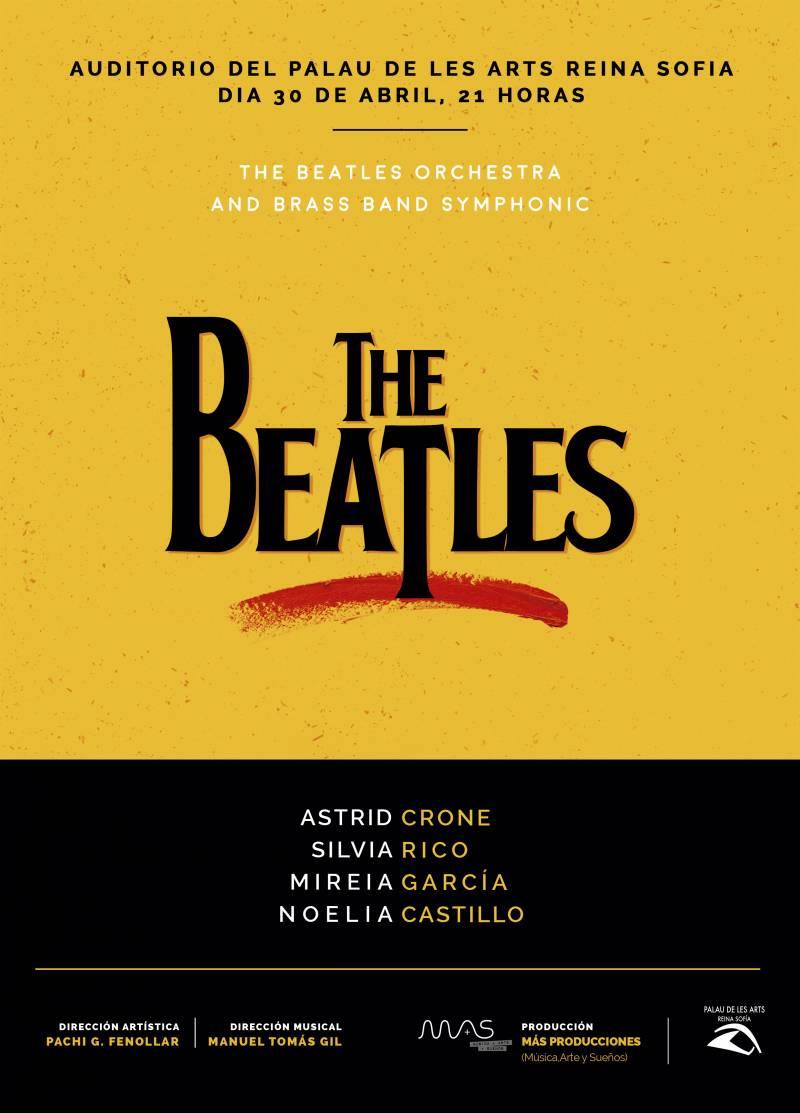 Cartel del concierto The Beatles