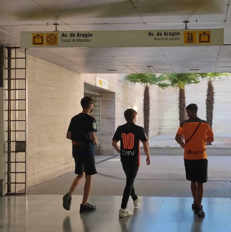 La estación de metro de la Av. de Aragón. Imagen: GVA