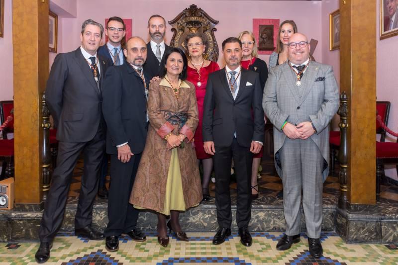 La Junta Honorifica 2020 con Maestro Mayor y Junta de Gobierno del Gremio