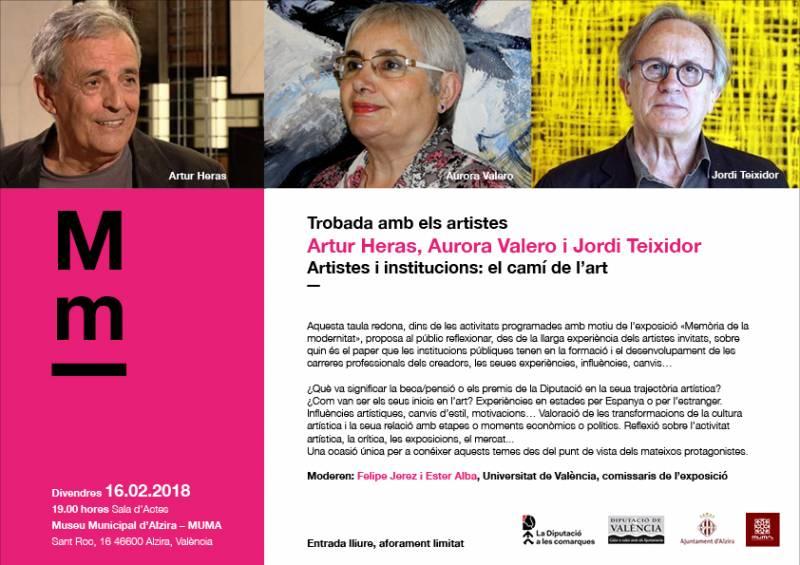 Cartel del encuentro de artistas en Alzira