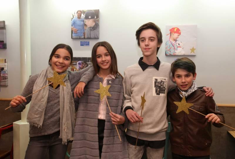 Nuria, María, Manuel y José Enrique