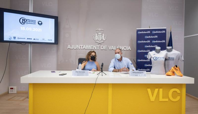 Presentació de la Carrera Noctura a València.