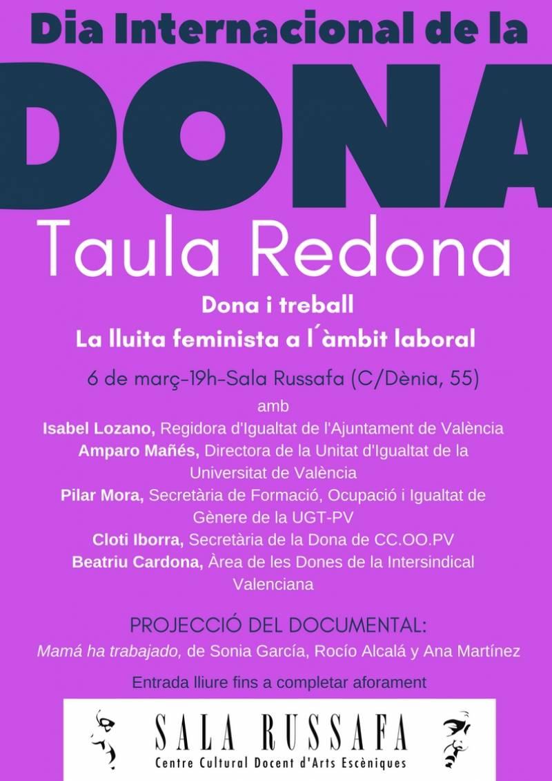 Cartel Taula Redona, Día de la Dona 2018