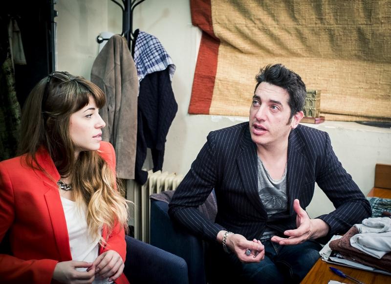 Talía e Ignasi en el camerino (Foto: David Zarzoso)