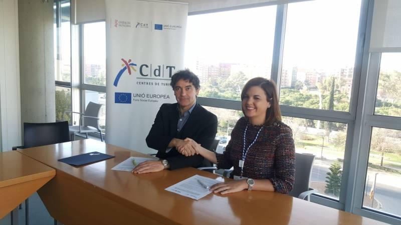 Francesc Colomer y Sandra Gómez