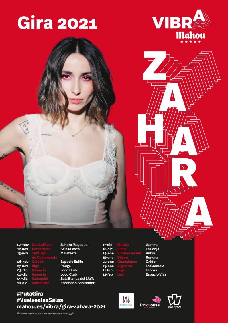 Cartel de Zahara en la Gira de Vibra Mahou.