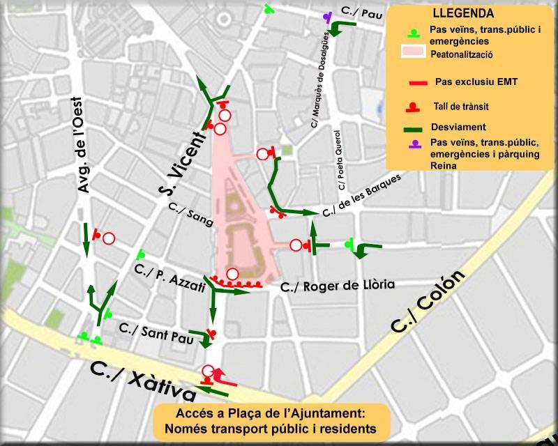 Peatonalització Pl Ajuntament 24 i 25 desembre