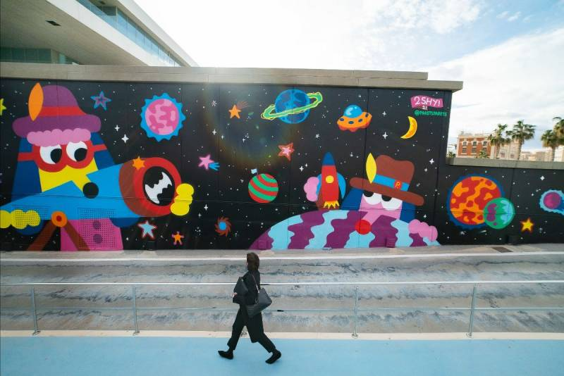Mural en La Marina. EPDA.