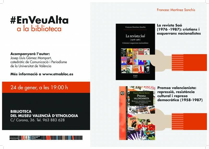 La Biblioteca del Museu Valencià d'Etnologia habla «En Veu Alta» sobre periodismo