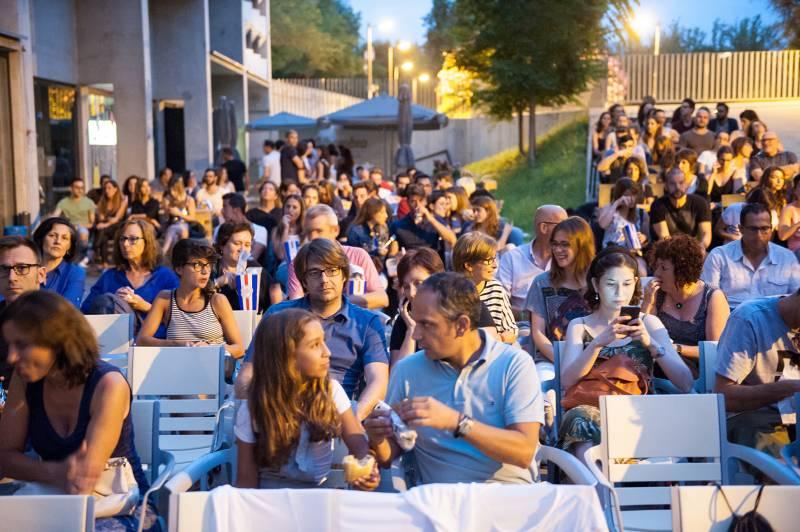 Cine de verano, terraza