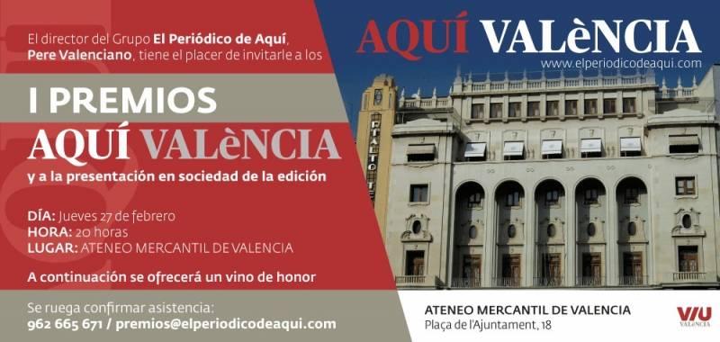 Invitacio?n I Premios Valencia