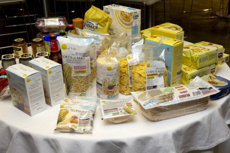 Bodegón de productos sin gluten marca Special Line