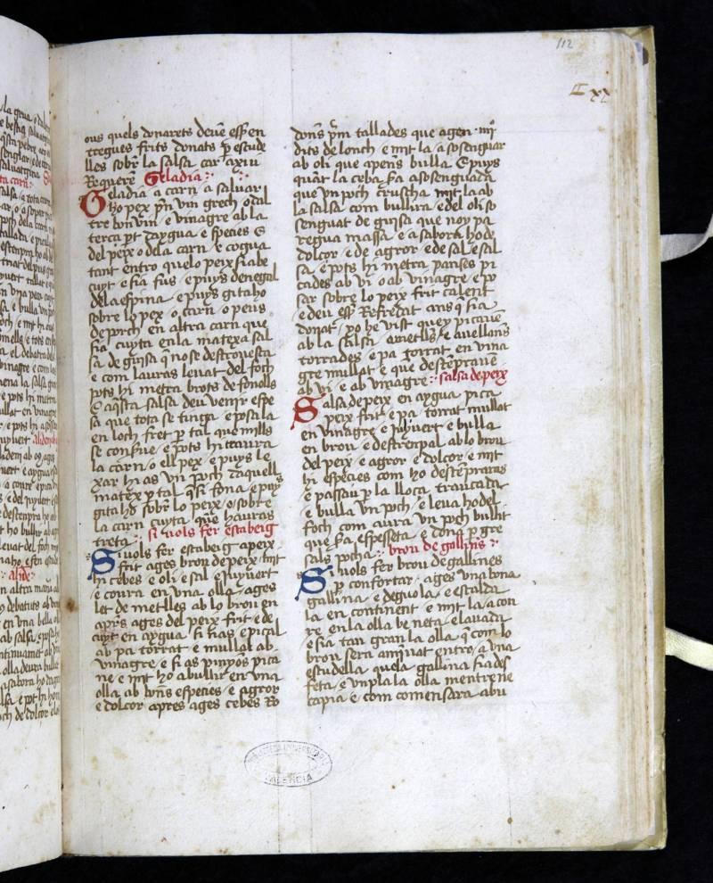 Llibre Sent Sovi de la Biblioteca Histo?rica de la UV.