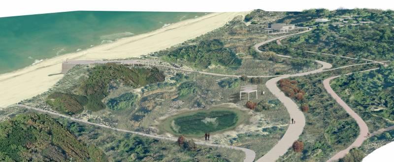 Vista búnquer del Saler projecte