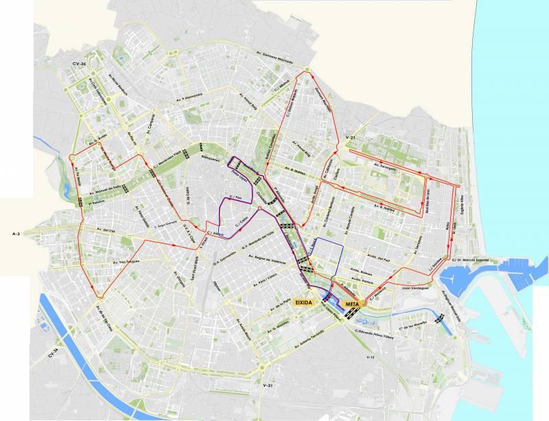 Maratón 2017+10K recorridos