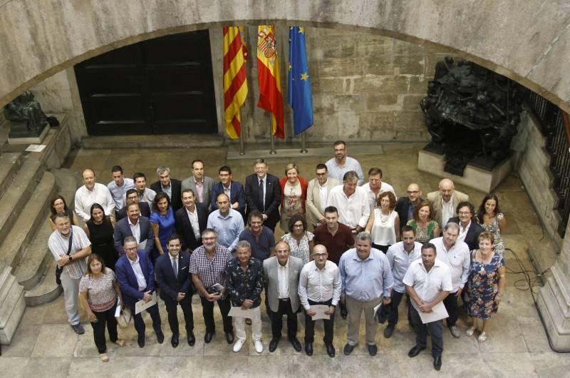 Los alcaldes de la comarca de l