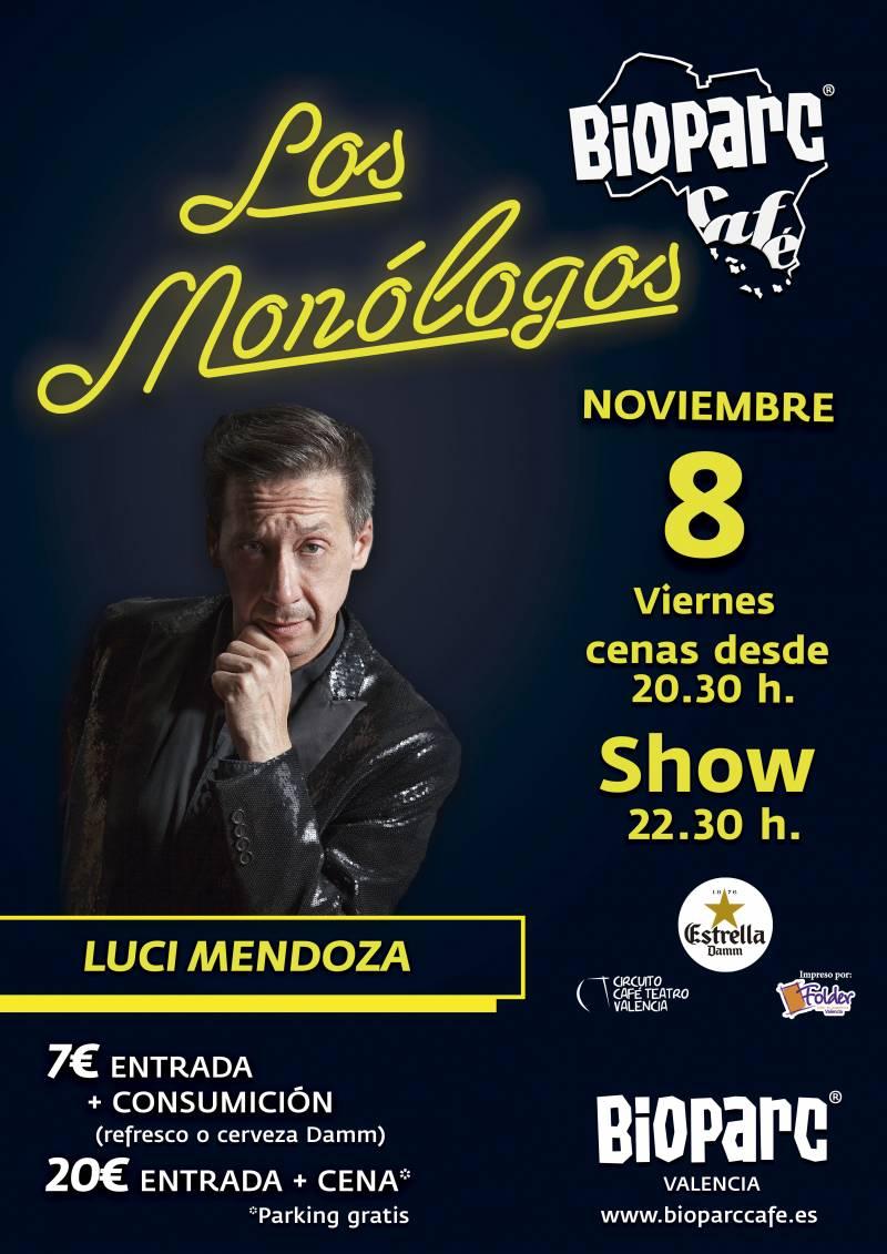 BIOPARC Café - monólogo 8 de noviembre - Luci Mendoza