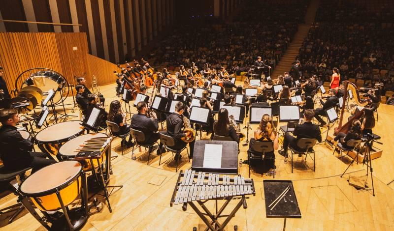 Banda de música al Palau de Les Arts Reina Sofía.EPDA