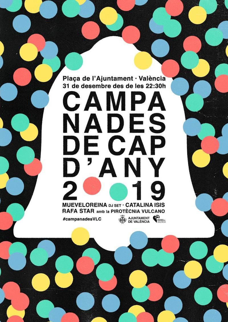 La Plaza del Ayuntamiento acogerá la fiesta Campanades de València, por quinto año consecutivo