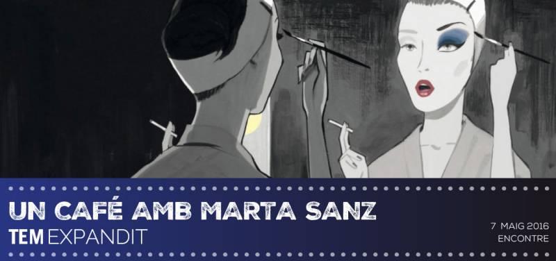 Cartel de un café amb Marta Sánz. // viu valència