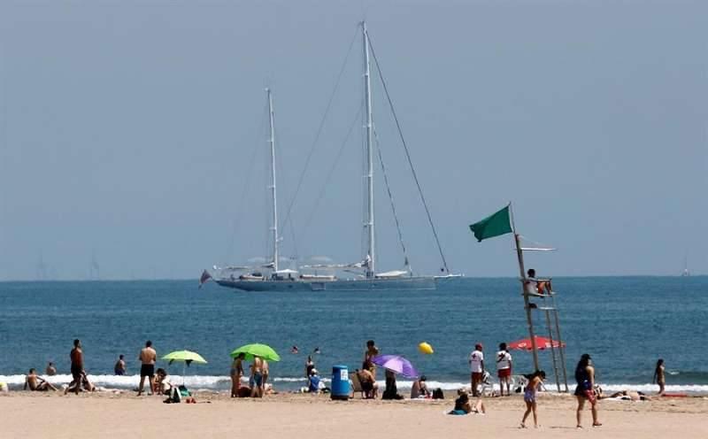 Una playa de la ciudad de Valencia. EPDA