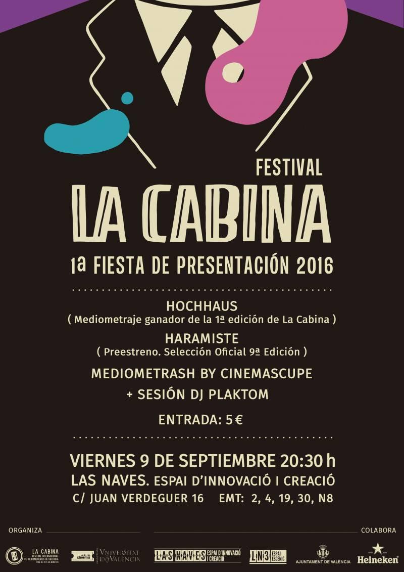 Cartel fiesta La Cabina