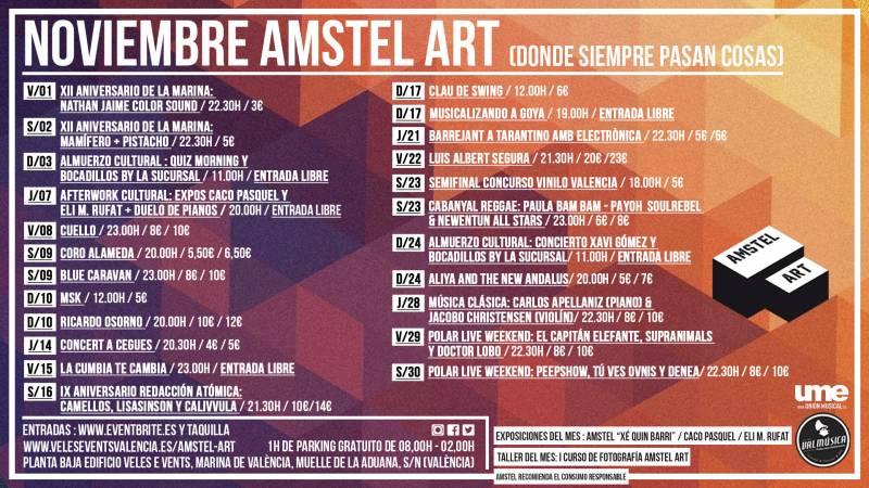 CARTEL NOVIEMBRE 19 AMSTEL ART
