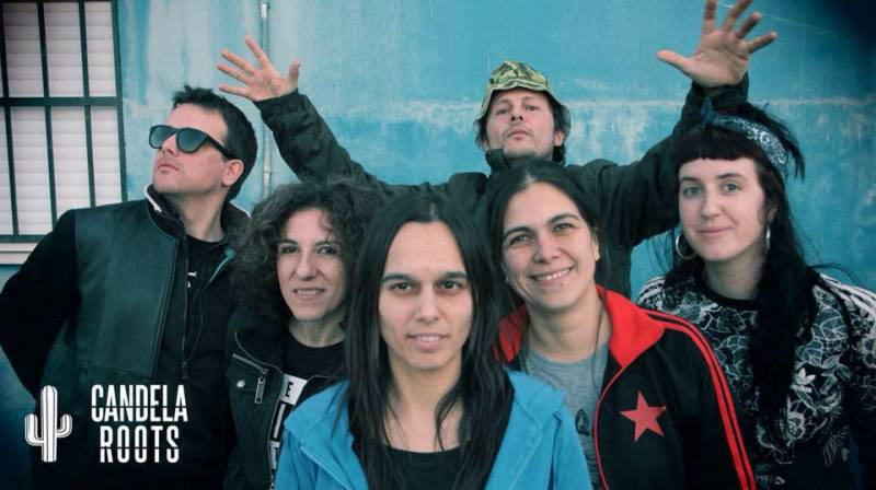 Los integrantes del grupo Candela Roots