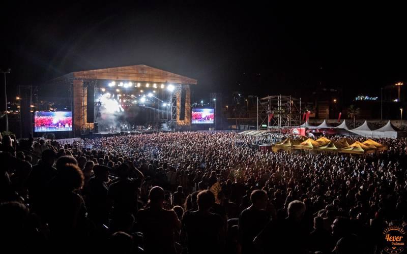 Una imagen de 4ever Valencia Fest 2018 celebrado también en La Marina de València