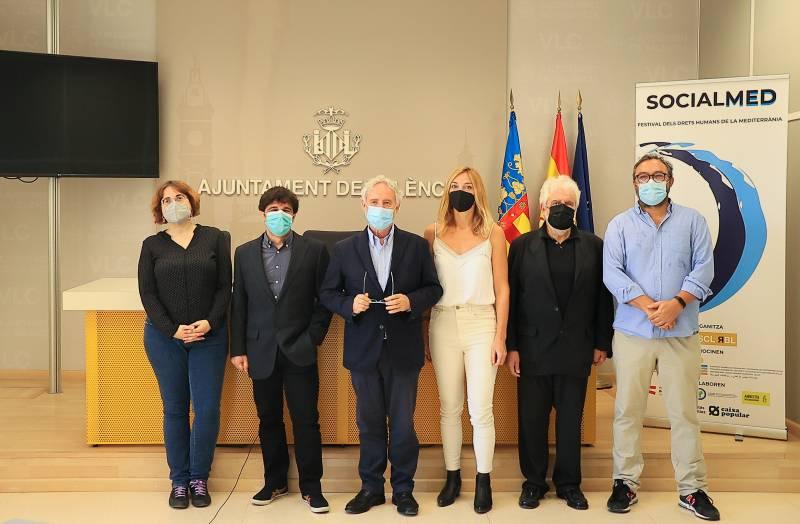 Presentación del I SOCIALMED VALÈNCIA Festival de Derechos Humanos del Mediterráneo en el Ayuntamiento de València.