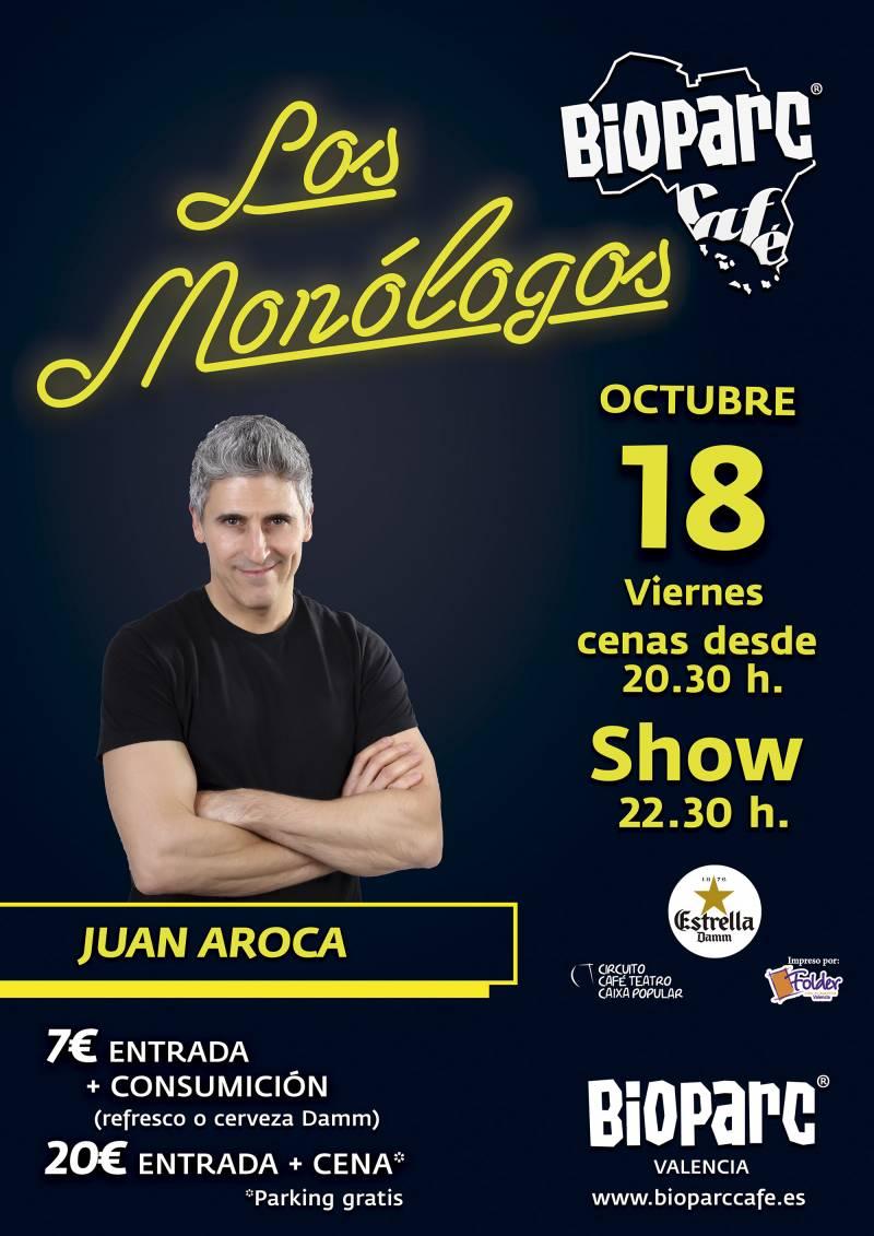 Los Monólogos de BIOPARC Café - Juan Aroca viernes 18 octubre 2019
