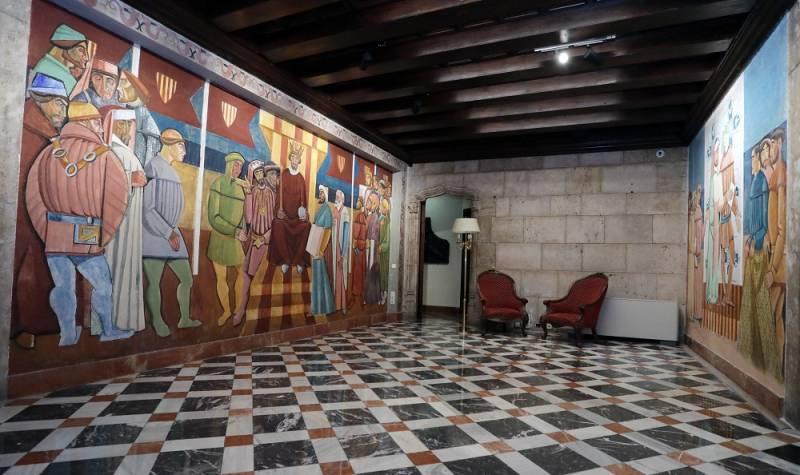 Restauració de les pintures murals del Palau de la Generalitat. Imagen: GVA