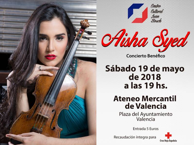 Aisha Syed el 19 Mayo 19:00 h en el Ateneo Mercantil de Valencia