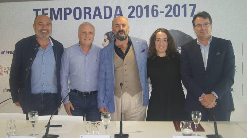 Xavier Rius, Albert Girona, Davide Livermore, Glòria Tello i Francisco Potenciano