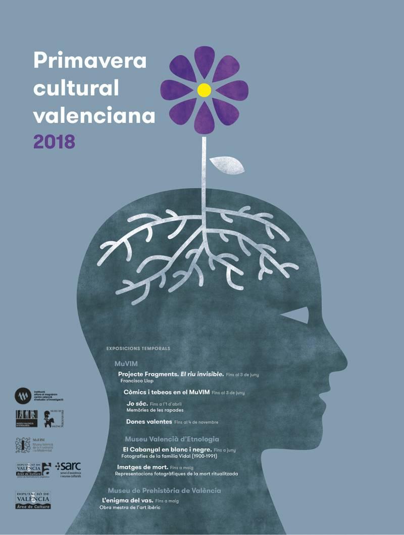 Cartel de la campaña Primavera cultural valenciana 2018