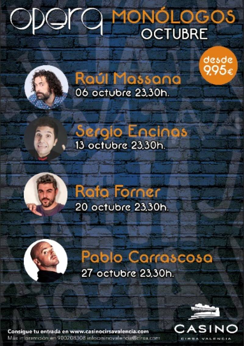 Monólogos octubre Casino Cirsa Valencia
