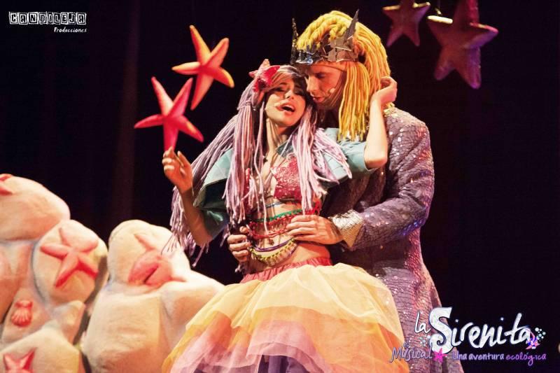 Una de las imágenes del espectáculo de la Sirenita. //EPDA