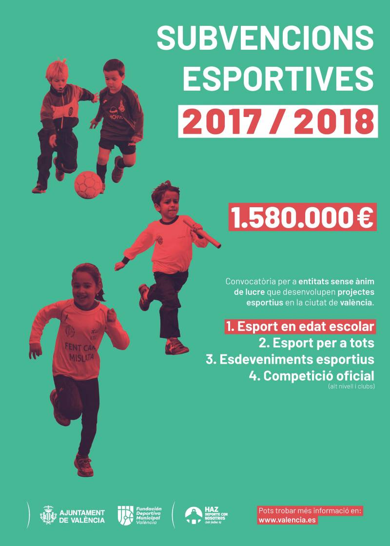 Subvenciones 2017-2018 Esport en edat escolar