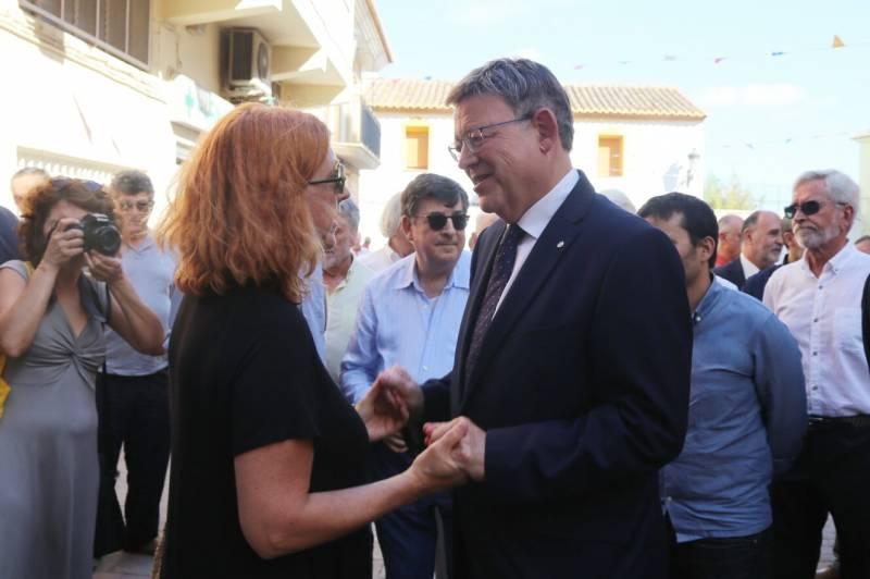 Ximo Puig en el funeral de Michavila