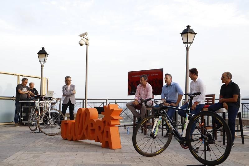 Presentación de la cuarta etapa de La Vuelta en el Castillo de Cullera