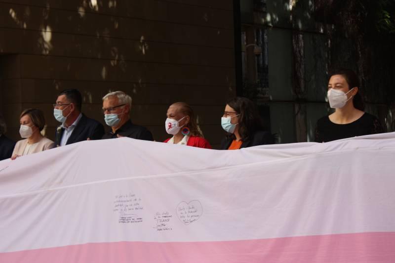 Instituciones valencianas firman la bandera trans. EPDA