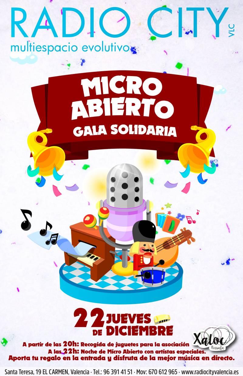 Micro abierto, Gala Solidaria