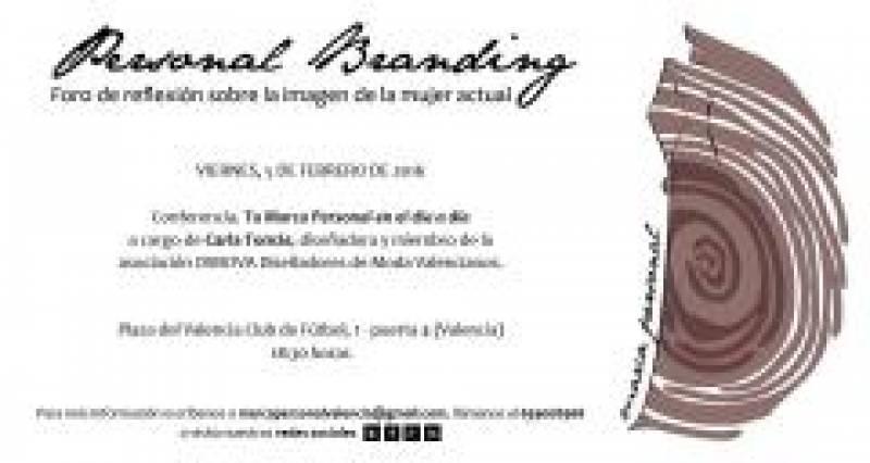 Cartel informativo de Personal Branding. //Viu València