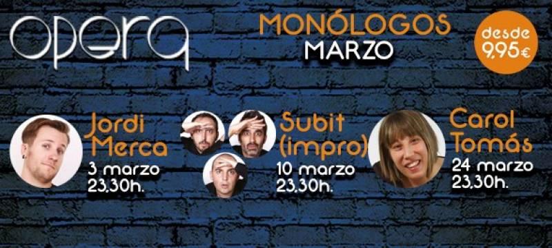 Monólogos marzo Casino Cirsa Valencia